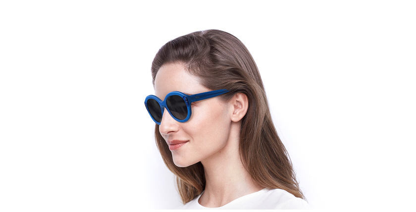 Gafas de sol mujer ALYSSA azul - vue de 3/4