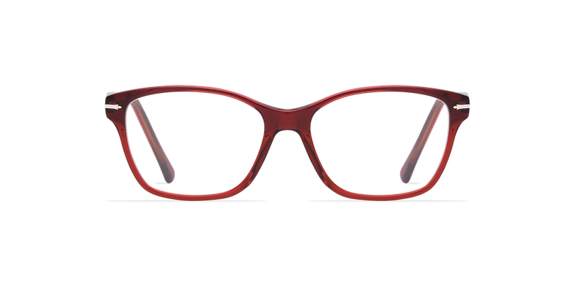 Gafas graduadas mujer LADOYE azul/rojo - vista de frente