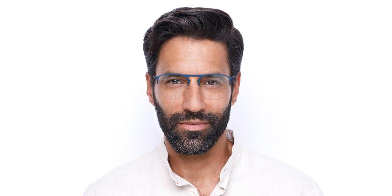 Gafas graduadas hombre NEON azul/plateado