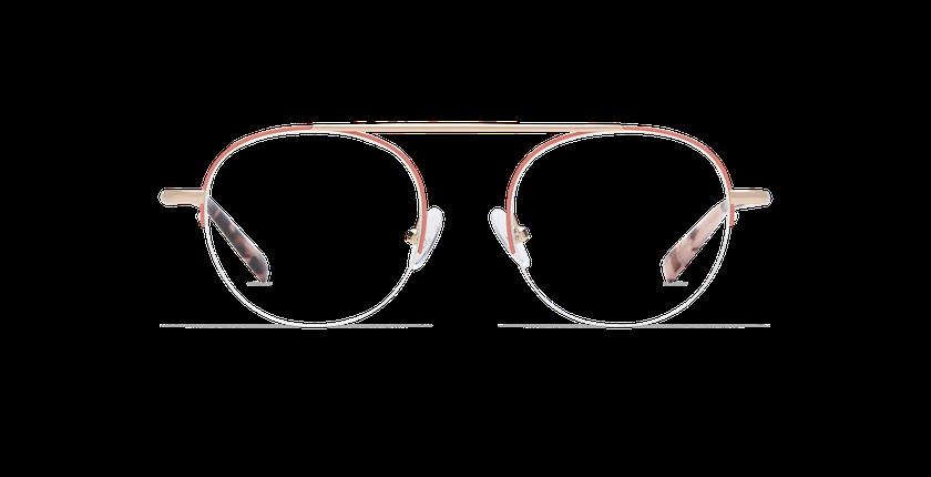 Gafas graduadas mujer REBECCA rosa/dorado - vista de frente