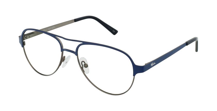 Gafas graduadas NAEL azul/plateado - vue de 3/4