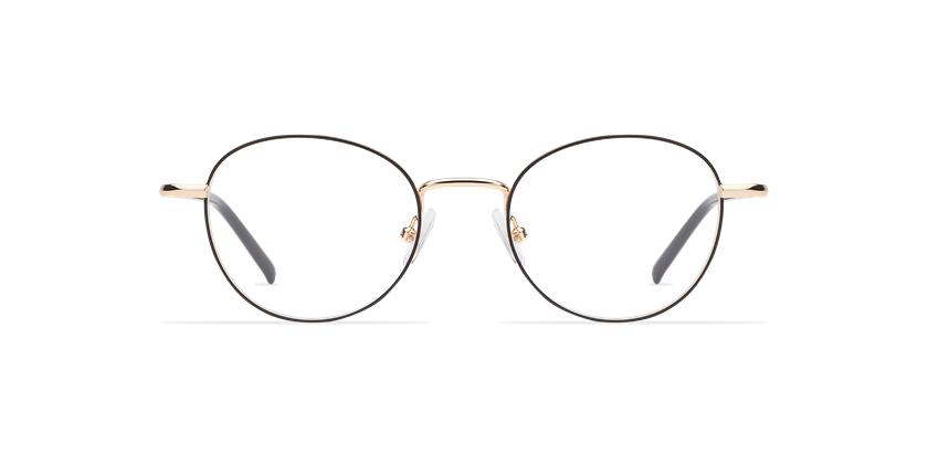 Gafas graduadas mujer NELIA negro/dorado - vista de frente