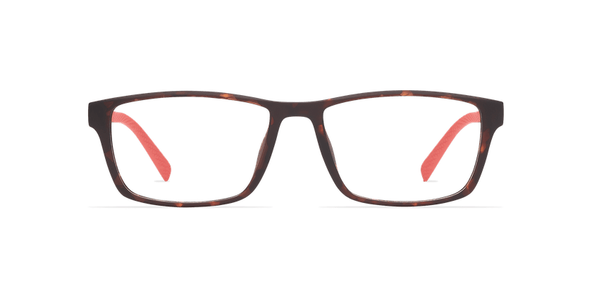 Gafas graduadas hombre STRIKE carey/rojo - vista de frente