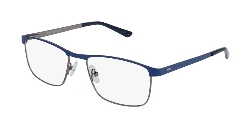 Gafas graduadas hombre GUIDO azul/plateado - vue de 3/4