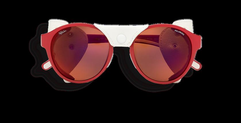 Gafas de sol mujer FLOCON rojo - vista de frente