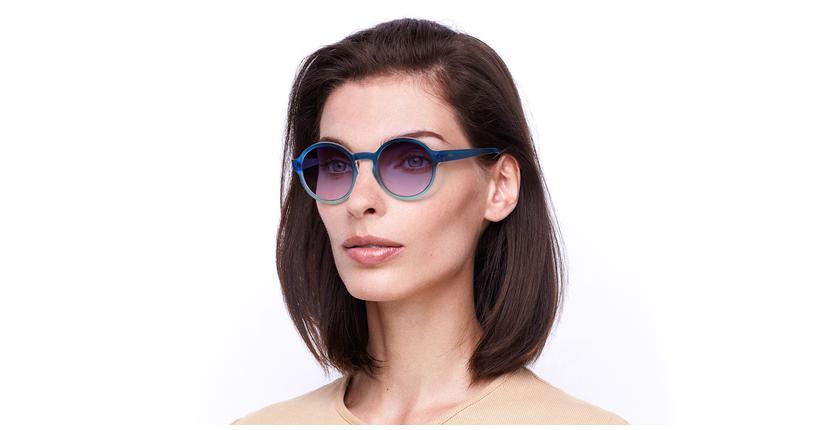Gafas de sol mujer CHACHA azul - vue de 3/4
