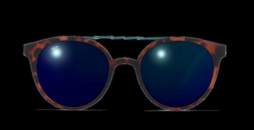 Gafas de sol hombre LAGOS carey/verde - vista de frente