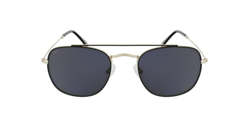 Gafas de sol hombre TOSSA negro/dorado - vista de frente