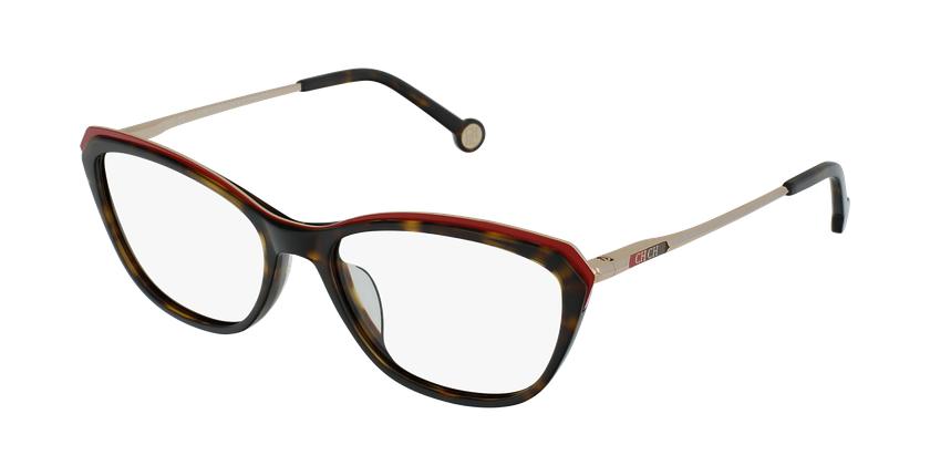 Gafas graduadas mujer VHE854 negro/carey - vue de 3/4