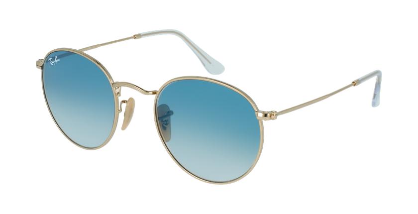 Gafas de sol ROUND METAL dorado/azul - vue de 3/4
