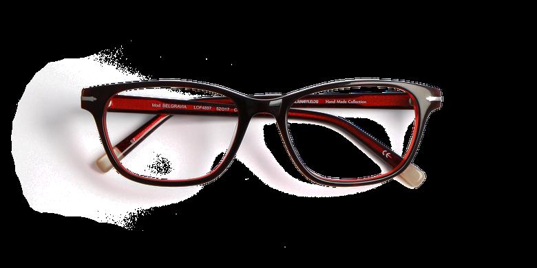 Gafas graduadas mujer BELGRAVIA rojo/rojo