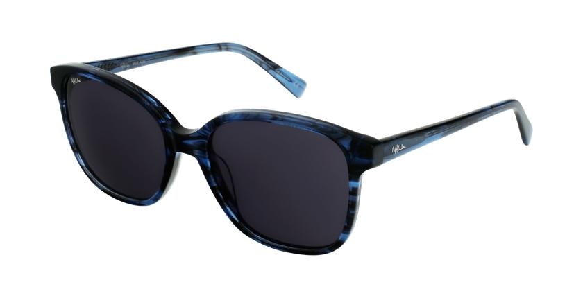 Gafas de sol mujer GLORIA azul/negro - vue de 3/4