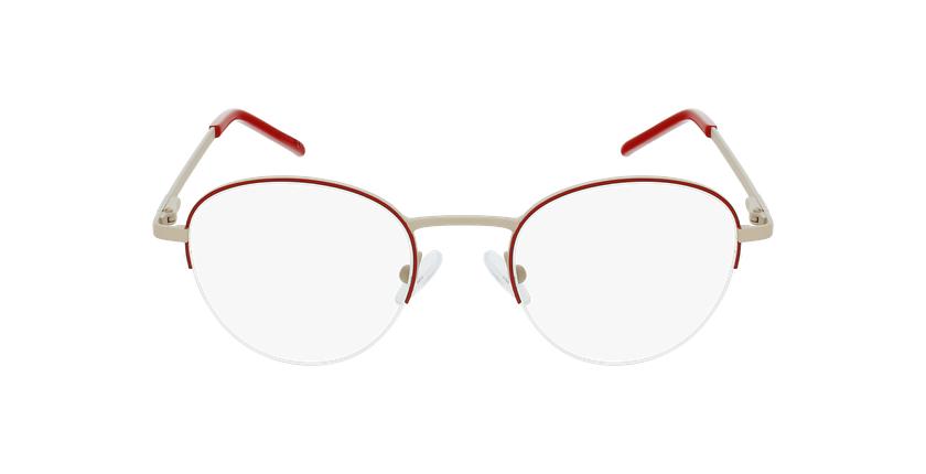 Gafas graduadas mujer DOMI rojo - vista de frente