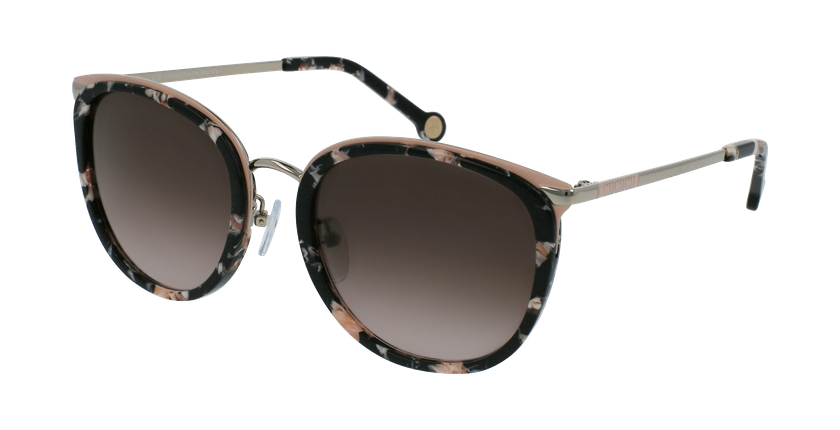 Gafas de sol mujer SHE131 negro/rosa - vue de 3/4