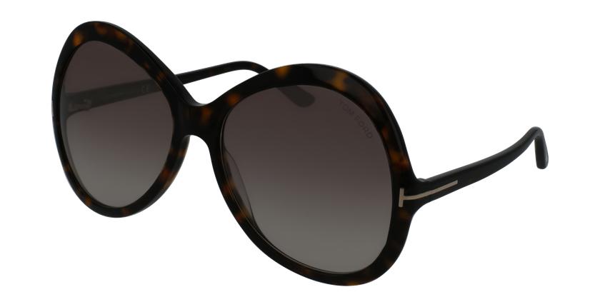 Gafas de sol mujer ROSE marrón - vue de 3/4
