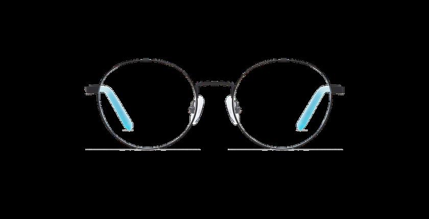 Gafas graduadas mujer CLAIRE negro/azul - vista de frente