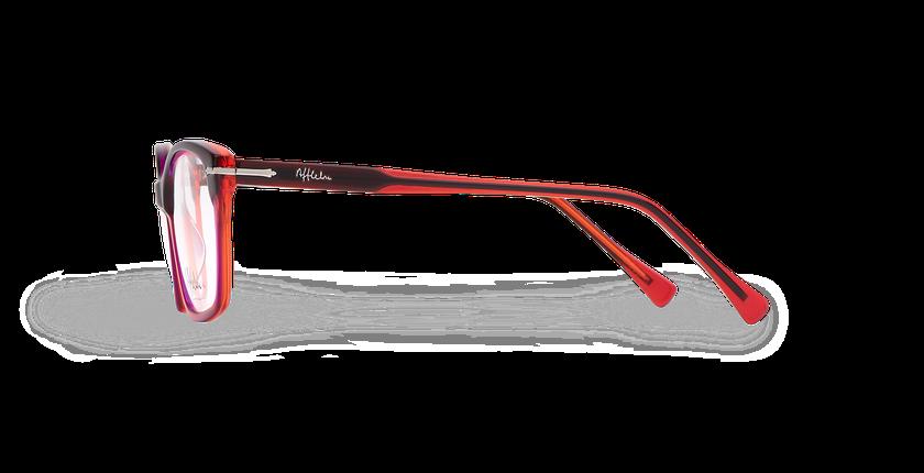 Gafas graduadas mujer LADOYE rojo/morado - vista de lado