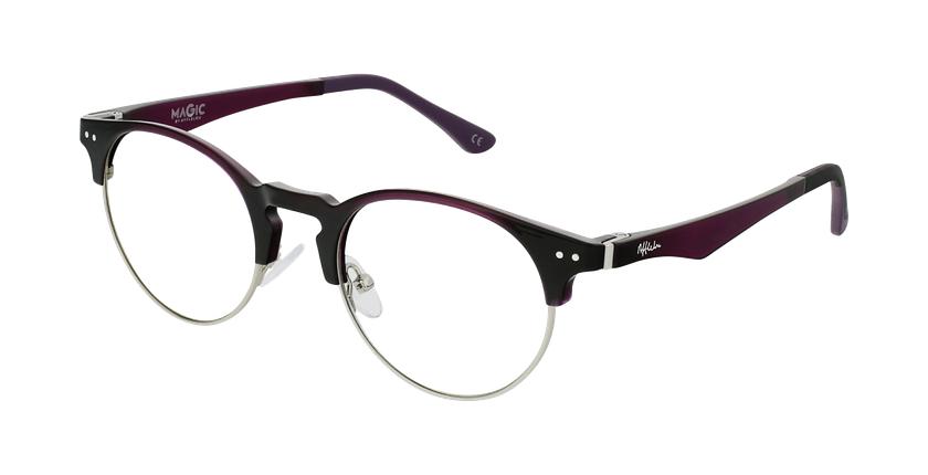 Gafas graduadas TMG93 morado/plateado - vue de 3/4