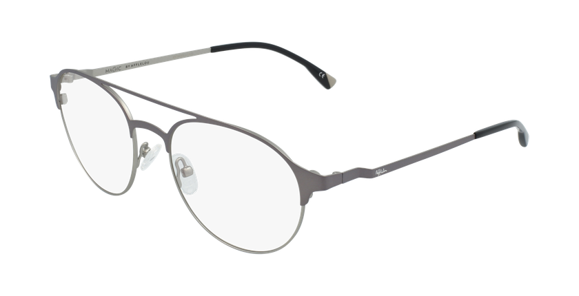 Gafas graduadas hombre MAGIC 52 BLUEBLOCK gris/plateado - vue de 3/4