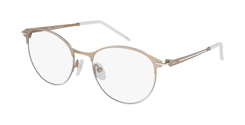 Gafas graduadas mujer MEROPE beige/blanco - vue de 3/4