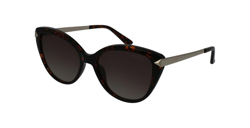 Gafas de sol mujer GU7658 marrón - vue de 3/4