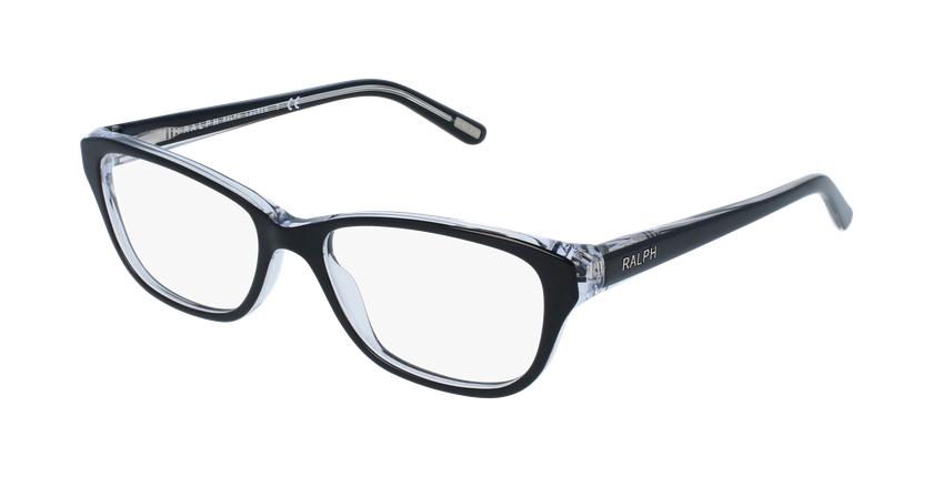 Gafas graduadas mujer RA7020 negro - vue de 3/4
