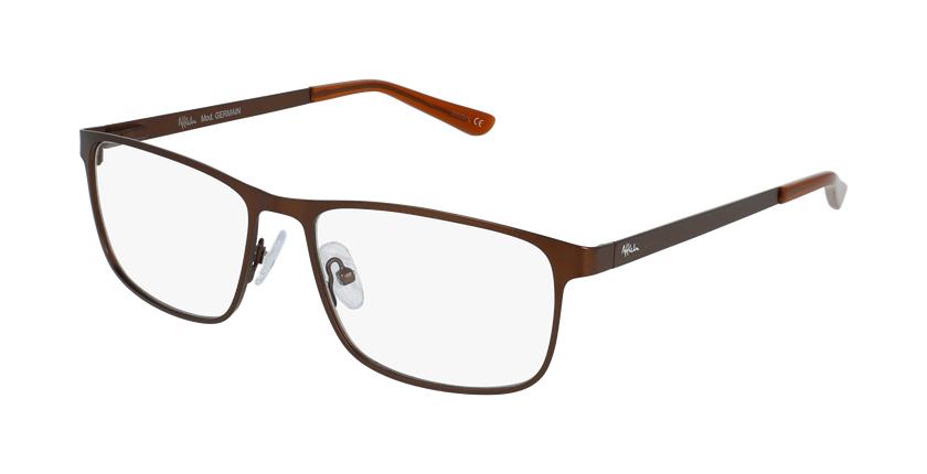 Gafas graduadas hombre GERMAIN marrón - vue de 3/4