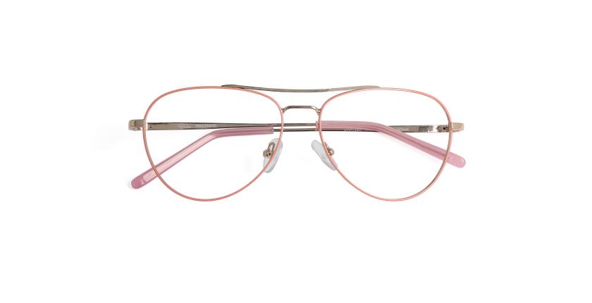 Gafas graduadas mujer MAHE rosa - vista de frente