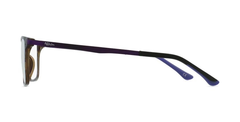 Gafas graduadas mujer MAGIC 61 BLUEBLOCK carey/morado - vista de lado