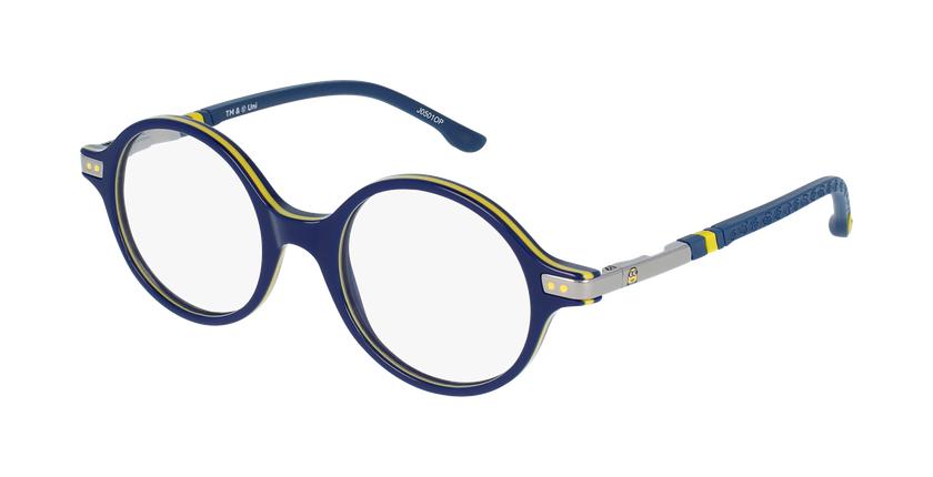 Gafas graduadas niños BELLO1 azul/amarillo - vue de 3/4