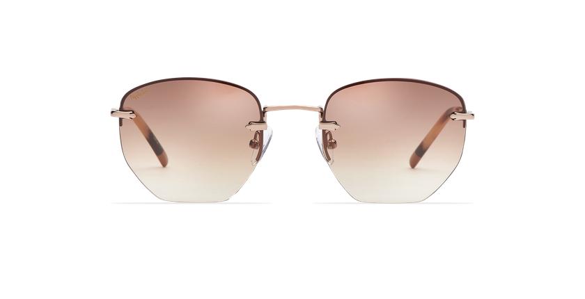 Gafas de sol mujer JENNA marrón/dorado - vista de frente