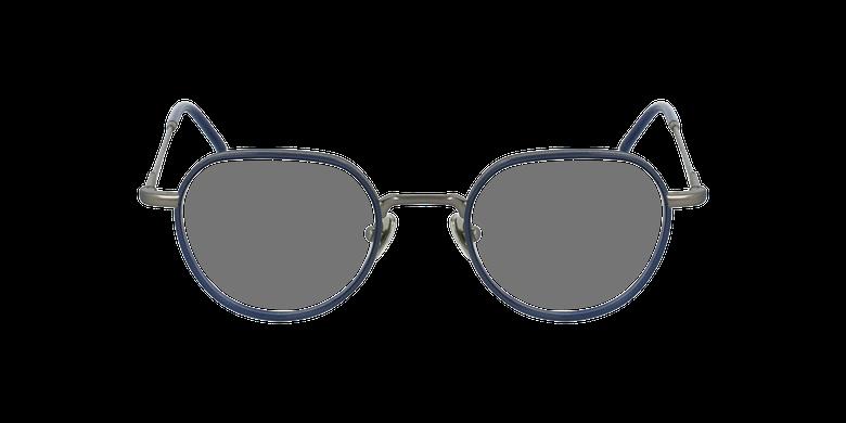 Gafas graduadas DEBUSSY azul/plateadovista de frente