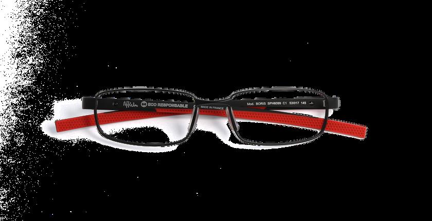 Gafas graduadas hombre BORIS negro - vista de frente