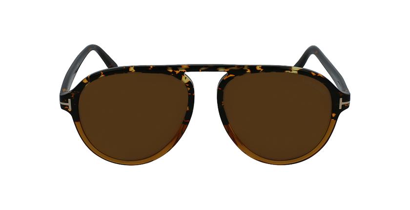 Gafas de sol hombre TONY marrón - vista de frente