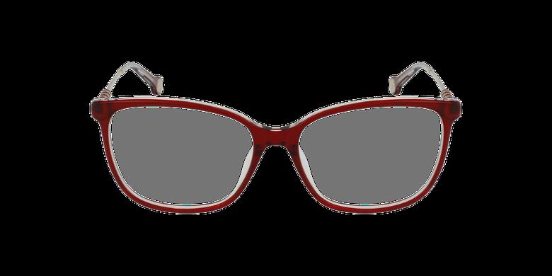 Gafas graduadas mujer VHE852 rojo/rojovista de frente