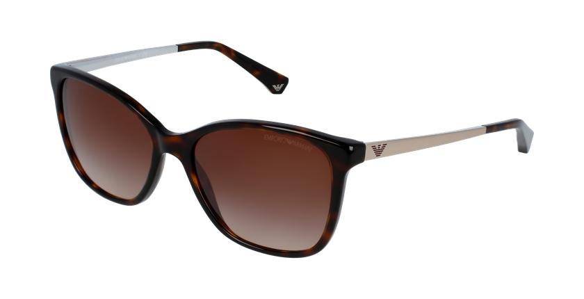 Gafas de sol mujer 0EA4025 marrón - vue de 3/4
