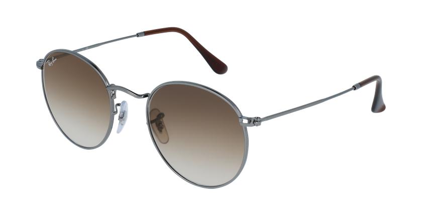 Gafas de sol ROUND METAL marrón/gris - vue de 3/4