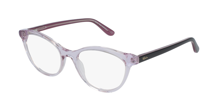 Gafas graduadas mujer AMELLE rosa - vue de 3/4