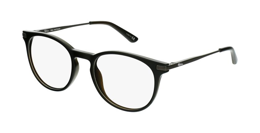 Gafas graduadas niños ANTONIN negro/plateado - vue de 3/4