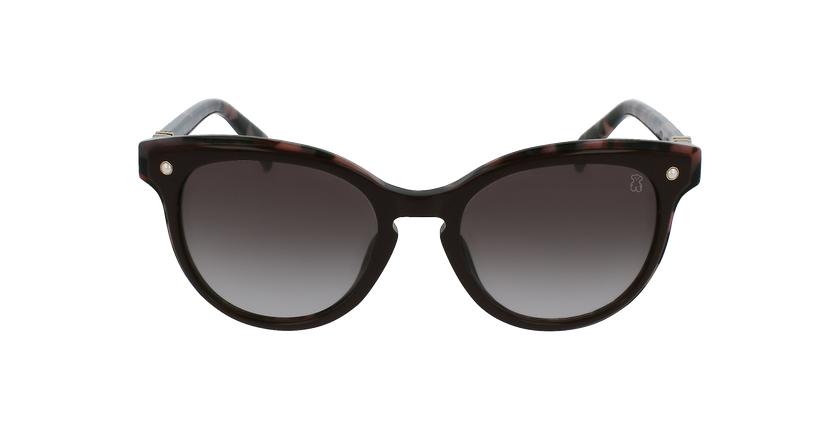 Gafas de sol mujer STOA28S marrón/rojo - vista de frente