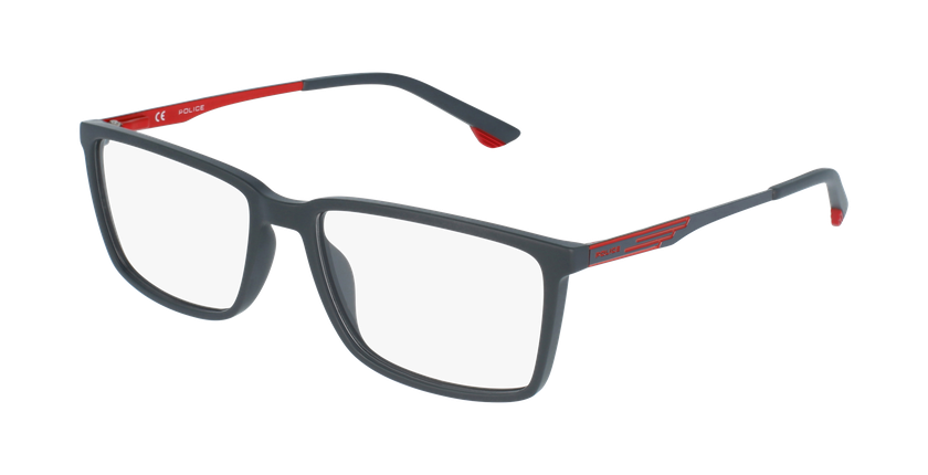 Gafas graduadas hombre VPL949 gris/rojo - vue de 3/4