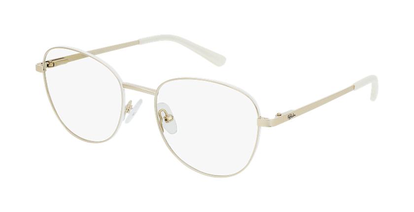 Gafas graduadas mujer LISSOU blanco/dorado - vue de 3/4