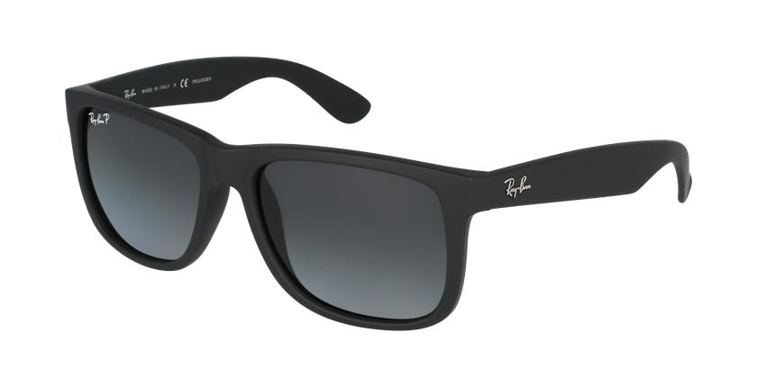 Gafas de sol hombre JUSTIN negro/gris - vue de 3/4