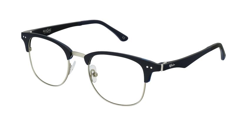 Gafas graduadas TMG92 azul/plateado - vue de 3/4