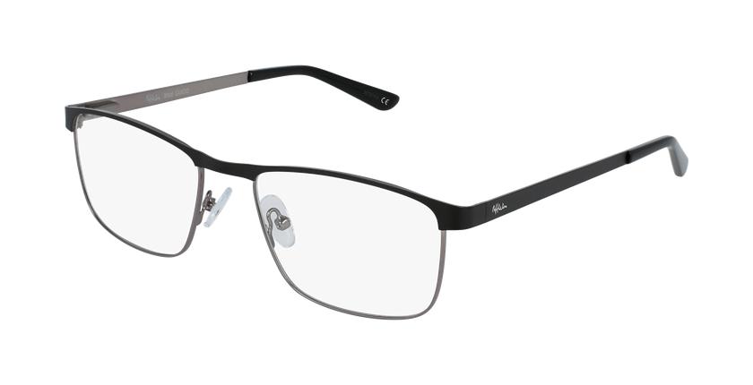 Gafas graduadas hombre GUIDO negro/gris - vue de 3/4