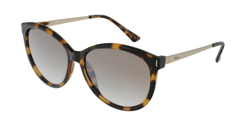 Gafas de sol mujer ZAFRA carey/dorado - vue de 3/4