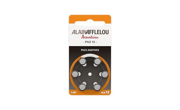 Pilas Tipo 13 para audífonos - Pack de 6 - vista de frente