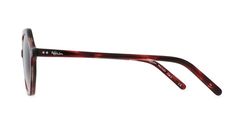Gafas de sol mujer CLEA rojo - vista de lado