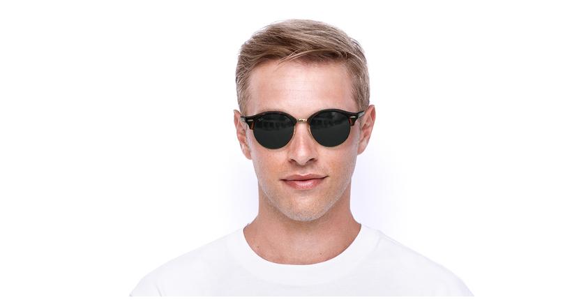 Gafas de sol CLUBROUND marrón - vista de frente