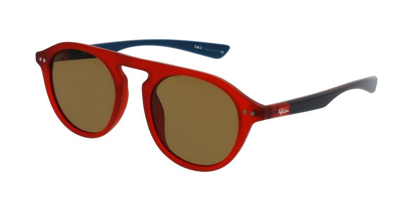 Gafas de sol BORNEO rojo/azul - vue de 3/4